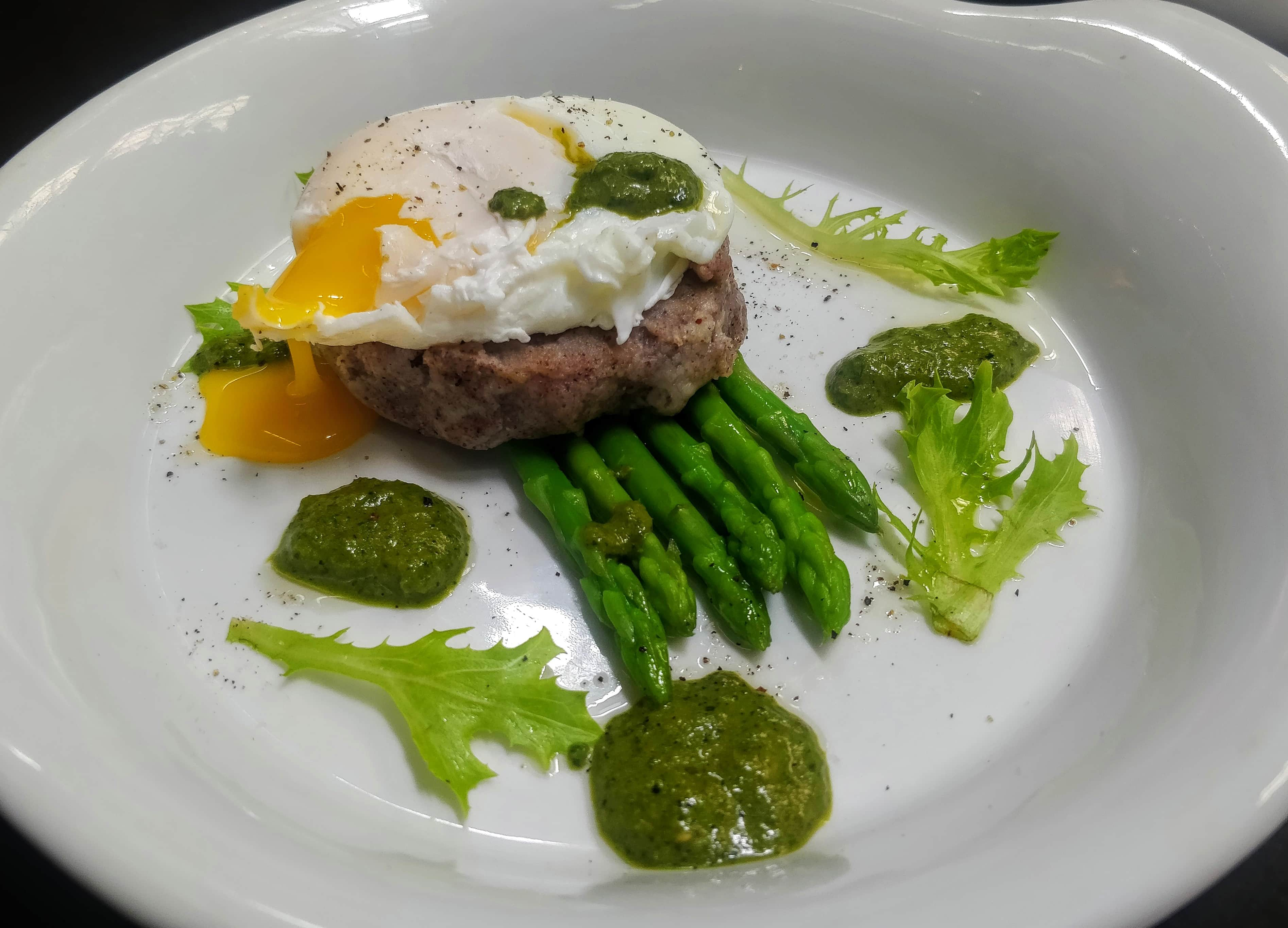 Ragi Mudde Poached Egg with Pesto