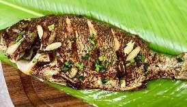 Omani Spiced whole fish