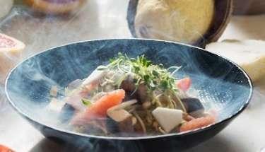 Tea Smoked Tofu and Sproutes Salad