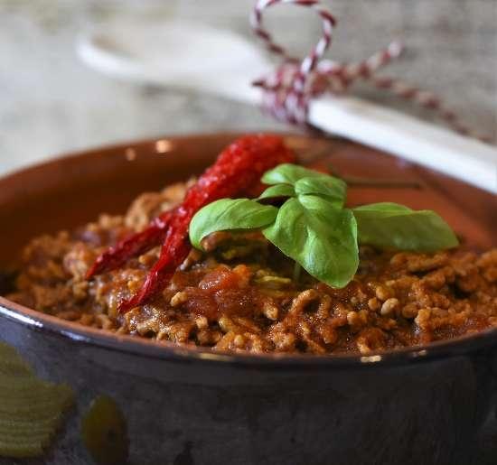 Spaghetti in Lamb Bolognese