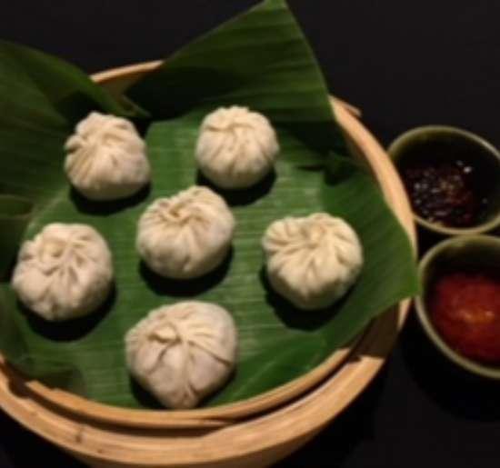 Beans and water chestnut dumplings
